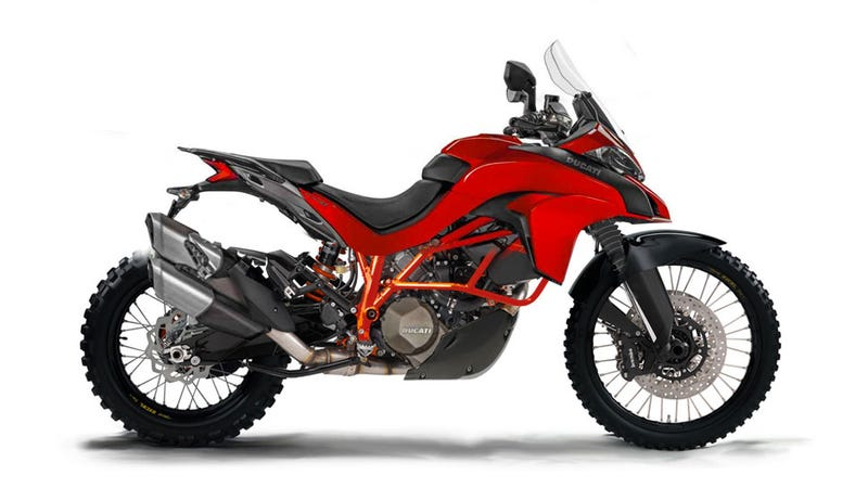 Illustration for article titled Is Ducati About To Release An Off Road Adventure Version Of The Multistrada?