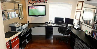 The Wrap Around Workspace A Garage to Office Conversion
