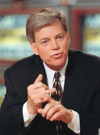 David Duke is mulling a 2012 presidential run. (Getty)