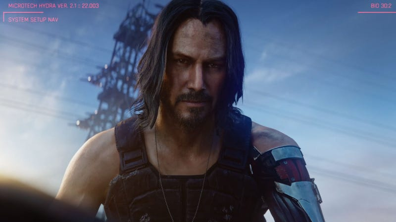 Illustration for article titled Cyberpunk 2077 Comes Out In April 2020, Will Feature Keanu Reeves