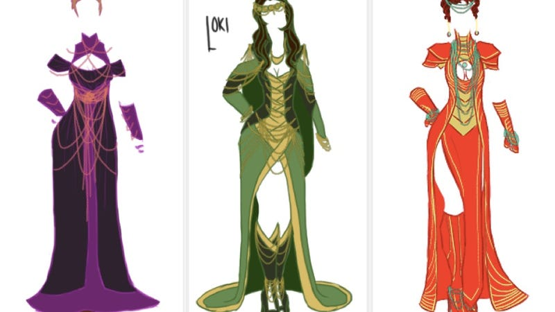 these avengers and villainsstyle gowns are badass and