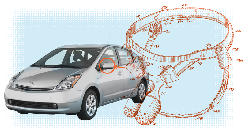 Illustration for article titled Prius Owner Makes Terrifying Chastity Belt Thing To Prevent Mirror Theft