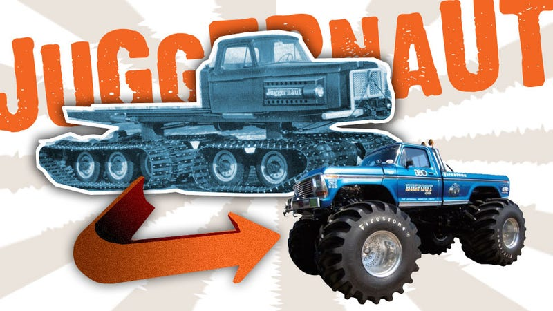Illustration for article titled The First Monster Trucks Were Made By A Rocket Fuel Company
