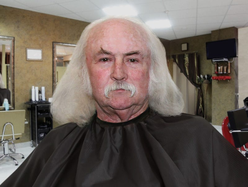 Illustration for article titled David Crosby Shows Photo Of Dwarven Blacksmith To Barber To Give Idea Of What He Wants