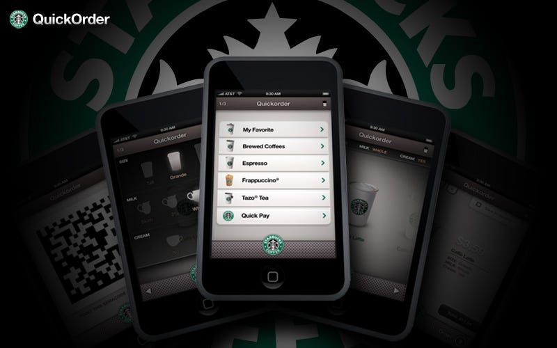 Illustration for article titled iPhone Starbucks Ordering Screens Look Like the Real Thing, Precede Apple Patent