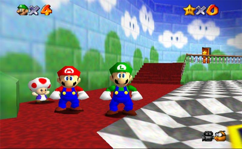 Illustration for article titled La frenética búsqueda de Luigi en Super Mario 64 que acabó en decepción