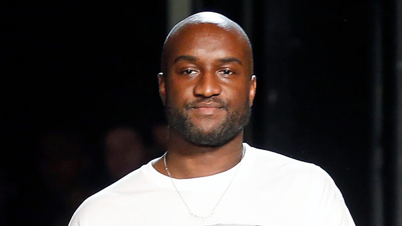 Virgil Abloh greets the public at the end of the Off-White Menswear Spring/Summer 2019 show on June 20, 2018 in Paris, France.