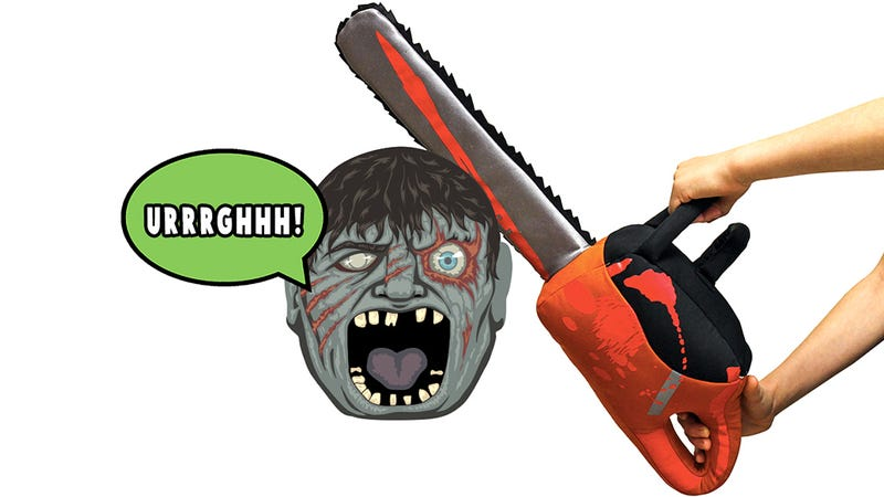 Illustration for article titled A Soft Stuffed Chainsaw Takes Pillow Fights To a Whole New Level