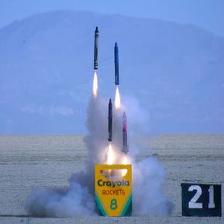 Illustration for article titled Man Launches Crayola Crayon Rockets in Nevada Desert