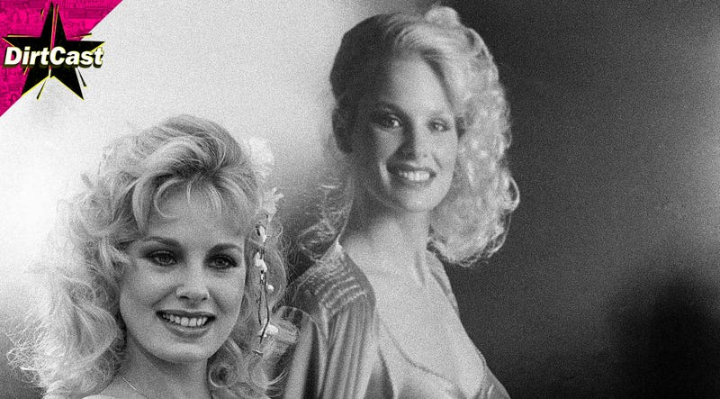 Dorothy Stratten, posing with a poster of herself in 1980. Image: AP