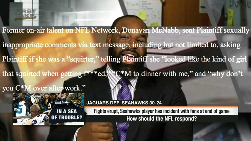 Illustration for article titled ESPN Suspends Donovan McNabb, Eric Davis After NFL Network Sexual Harassment Suit