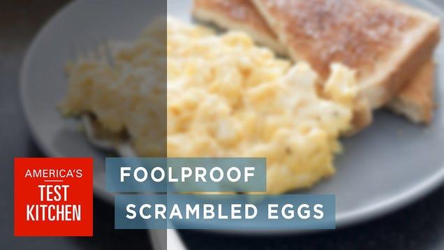 America S Test Kitchen Youtube Scrambled Eggs