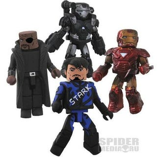 "Illustration for article titled Iron Man 2 ""Minimates"""