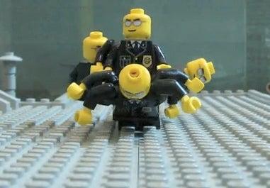 Illustration for article titled The Matrix's Bullet-Dodging Scene, Faithfully Recreated in Lego
