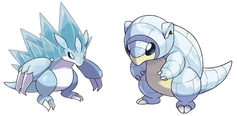 Las nuevas evoluciones de Sandslash y Sandshrew (vía SerebiiNet).