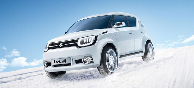 Illustration for article titled Suzuki's New iM-4 Concept Is Like A Polar Bear Cub In Spiked Boots