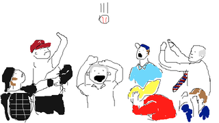 Illustration for article titled MLB Will Probably Ask Us To Remove That George W. Bush Foul Ball Video, So Here's A Shitty Drawing I Made