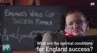 Illustration for article titled Stephen Hawking's Formula For England's World Cup Success