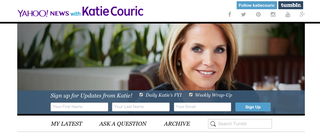 Illustration for article titled Katie Couric's Tumblr Is a Sad, Expensive Disaster