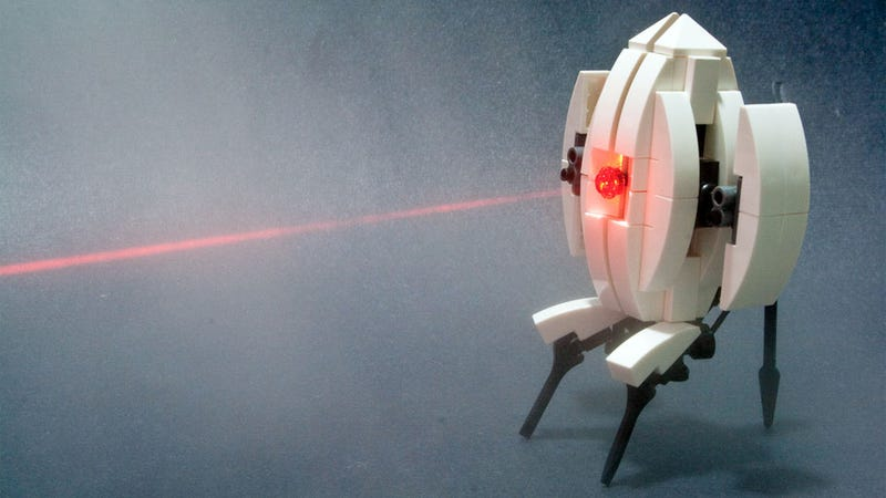 Illustration for article titled Here's How To Make Your Own Adorable Portal Turret Out Of LEGO