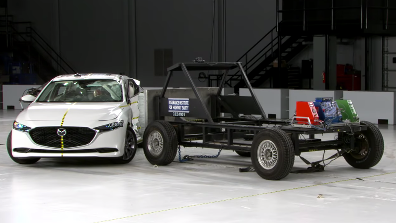 The IIHS Crash Test Ramming Car Has Pretty Sweet Rims