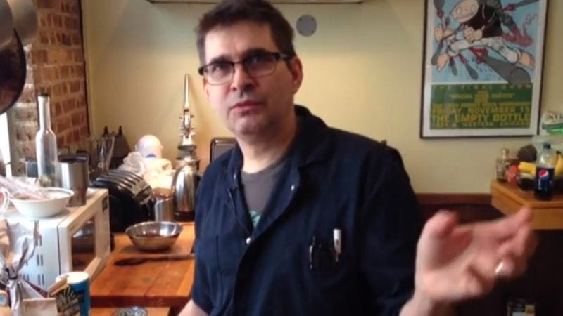 """Illustration for article titled Watch Steve Albini brew up a """"weasel coffee"""" tutorial"""