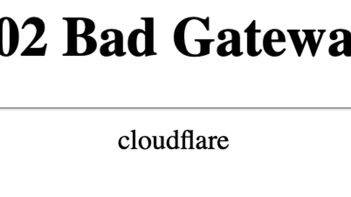 Cloudflare Outage Takes Down DownDetector, Other Sites