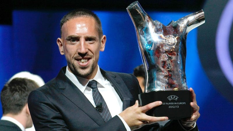 Illustration for article titled FC Bayern's Franck Ribéry Wins UEFA Best Player in Europe Award