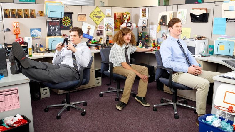 Illustration for article titled Workaholics' Blake Anderson, Adam DeVine, and Anders Holm