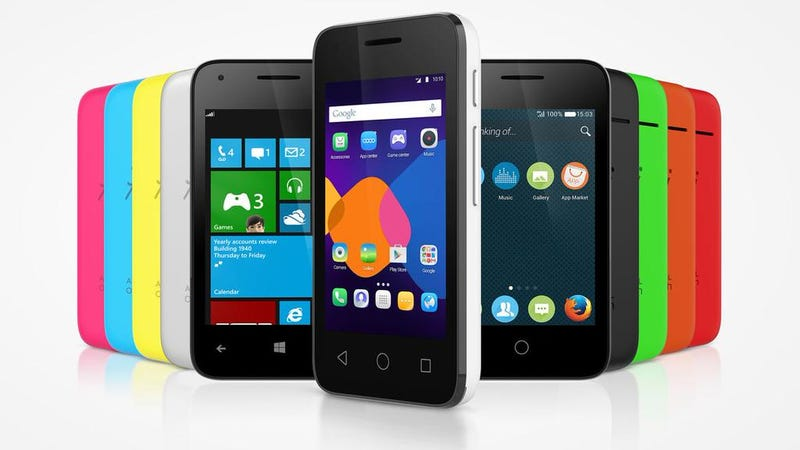 Illustration for article titled This Indecisive Smartphone Can Run Android, Windows, or Firefox OS