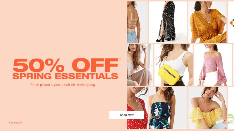 50% Off Spring Essentials | Forever 21