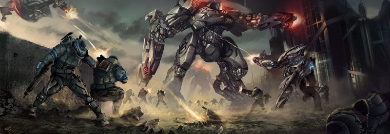 Illustration for article titled Giant Robots Pounding Each Other Have Never Looked So Majestic