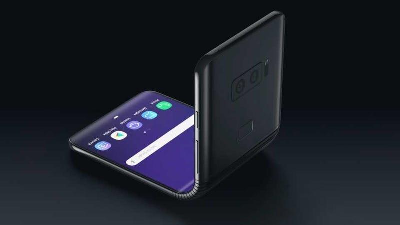 Illustration for article titled Samsung estaría trabajando en un móvil plegable tipo clamshell similar al Motorola Razr