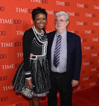 Filmmaker George Lucas and his wife, Mellody Hobson, president of Ariel InvestmentsTIMOTHY A. CLARY/AFP/Getty Images