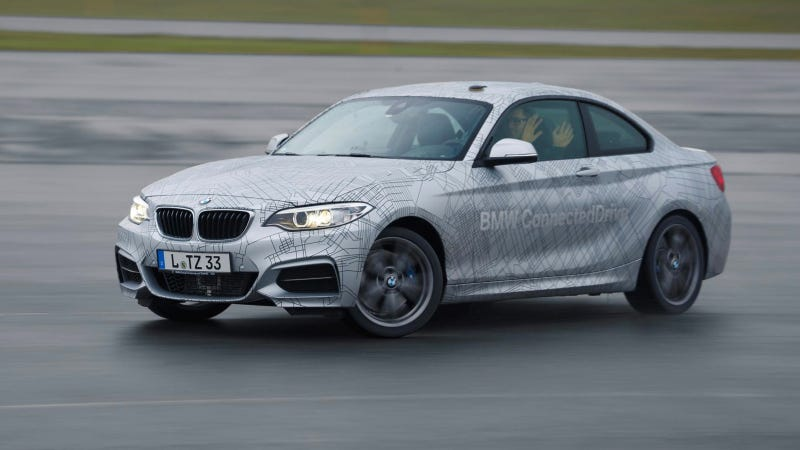 Illustration for article titled BMW Has Built A Self-Drifting Car That Will Do A Perfect Drift
