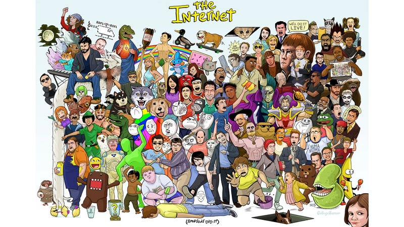Illustration for article titled Can You Find All the Memes in This Internet Orgy of a Poster?