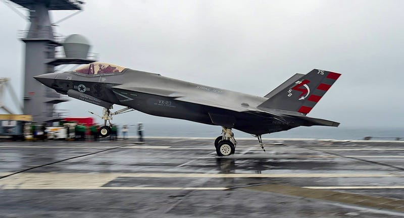 Illustration for article titled Navy F-35Cs Return To The Carrier For More Development Flights