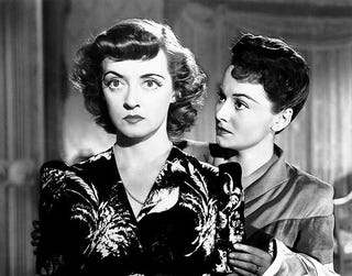 """Bette Davis, left, with Olivia de Havilland in """"In This Our Life."""""""