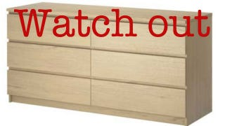 Illustration for article titled Ikea Warns of Safety Hazard for 27 Million Dressers After Children Die