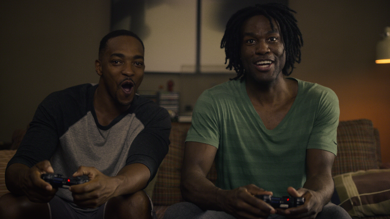 Anthony Mackie and Yahya Abdul-Mateen II in Black Mirror