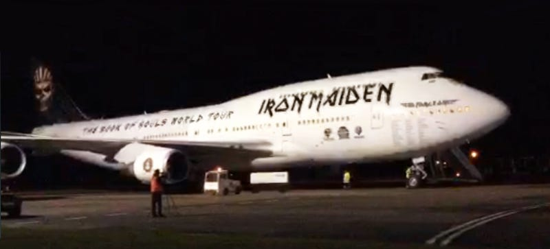 Illustration for article titled Check Out Iron Maiden's Bitchin' Boeing 747