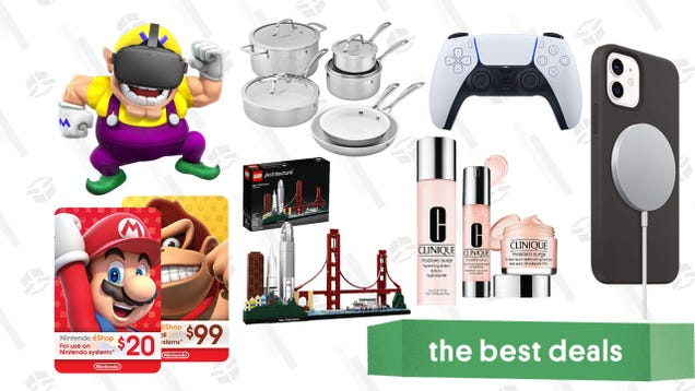 Wednesday s Best Deals: Nintendo eShop Gift Cards, PS5 DualSense Controller, LEGO Architecture Sets, Oculus Quest, Clinique Dewy for Days, Caliper CBD Powder, and More
