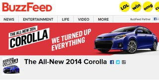 Illustration for article titled Automakers Are Using BuzzFeed More And That's Not Completely Terrible