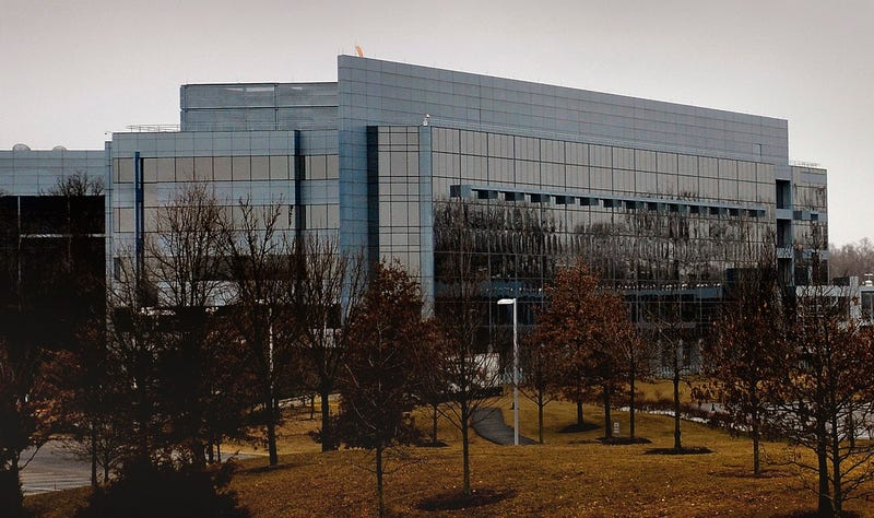 The National Reconnaissance Office headquarters in Fairfax, Virginia in 2010 (Photo by Michael S. Williamson/The Washington Post via Getty Images)