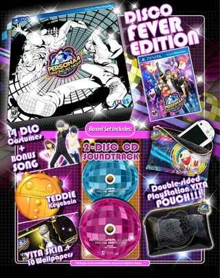 Illustration for article titled Persona 4 Dancing All Night Disco Fever Edition
