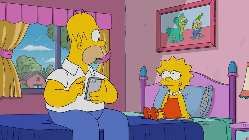 Illustration for article titled These baffling Simpsons memes about Limewire are peak internet