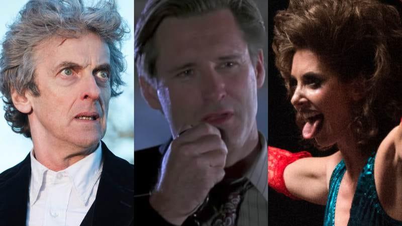 Peter Capaldi (Photo: Simon Ridgway), Bill Pullman (Screenshot: Independence Day), Alison Brie (Photo: Erica Parise/Netflix)
