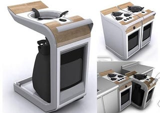 Illustration for article titled Range Kitchen Concept, for Mobile Cooking at Home