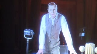 Illustration for article titled Behold Liam Neeson as the 3D holographic narrator in the War of the Worlds musical
