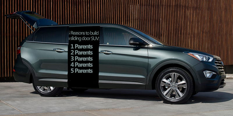 Illustration for article titled Parents demand a sport utility with rear sliding doors